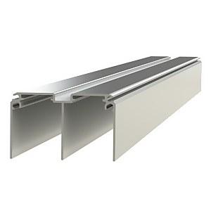 Duo Aluminium Sliding Door Track Set (W)1830mm
