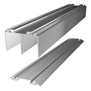 Duo Aluminium Sliding Door Track Set (W)3660mm