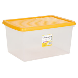 Wham Clear Box and Orange Lid - 16L