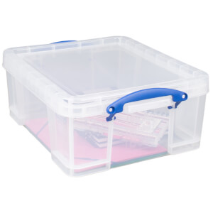 Really Useful Storage Box - Clear - 18L