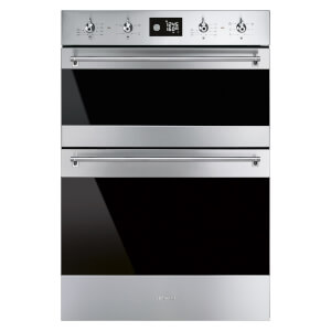 Smeg DOSF6390X 60cm Classic Built-in Double Electric Oven - Stainless Steel