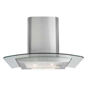 Matrix MEP601SS Curved Glass Chimney Cooker Hood - 60cm - Stainless Steel