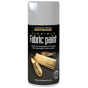 Rust-Oleum - Flexible Fabric Paint Silver - Spray - 150ml