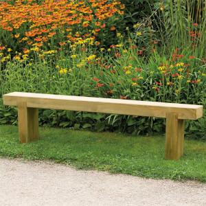Forest Garden Wooden Sleeper Bench - 1.8m