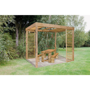 Forest Dining Garden Pergola with Panels