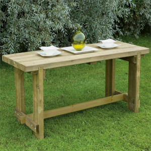 Forest Garden Refectory Wooden Garden Table - 1.8m