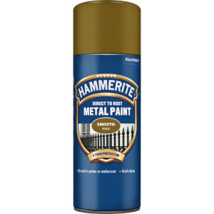 Hammerite Direct To Rust Metal Spray Paint -  Smooth Gold - 400ml