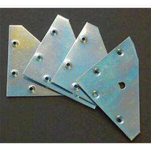 Flat Corner Plate - 4 Piece