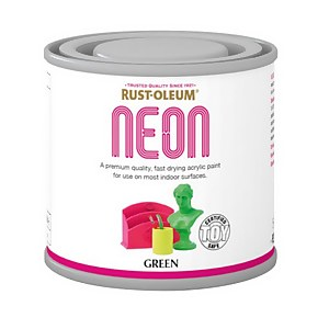 Rust-Oleum Neon Green Paint - 125ml
