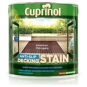 Cuprinol Anti Slip Decking Stain - American Mahogany - 2.5L