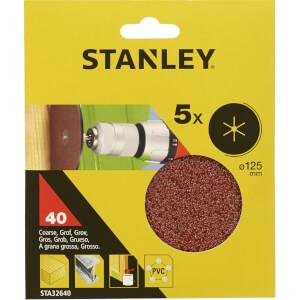 Stanley 125mm Drill Sanding Discs 40G - STA32640-XJ
