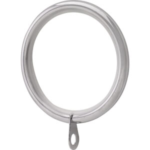 Chrome 28mm Curtain Rings 4 pack