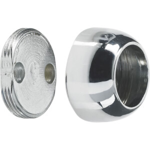 Covered Sockets - Chrome Plated - 25mm