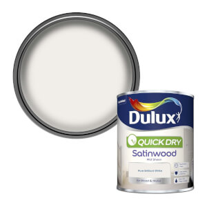 Dulux Pure Brilliant White - Quick Dry Satinwood - 750ml