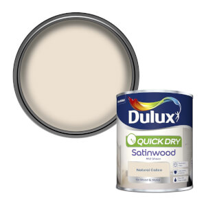 Dulux Natural Calico - Quick Dry Satinwood - 750ml