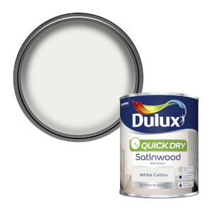 Dulux White Cotton - Quick Dry Satinwood - 750ml
