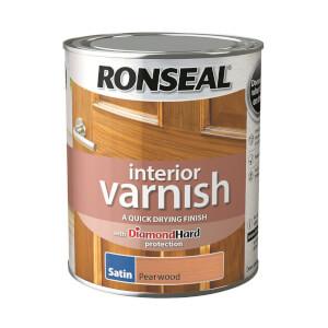 Ronseal Interior Varnish Satin Pearwood - 750ml