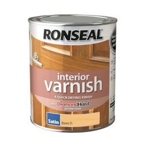 Ronseal Interior Varnish Satin Beech - 750ml