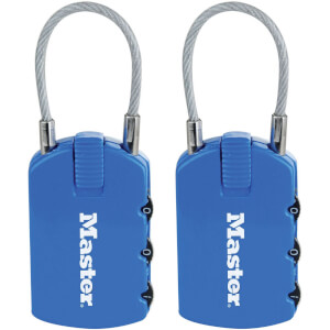 Master Lock 2-in-1 Padlocks with ID Tags - 2 Pack