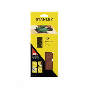 Stanley 1/3 Sheet Sander Punched Wire Clip 80G Sanding Sheets