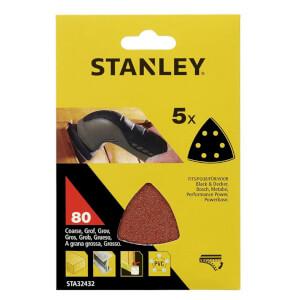 Stanley Delta Head Sander Sheets 80G - STA32432-XJ