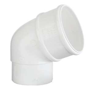Polypipe Downpipe Offset Bend - 68mm x 112.5 Degree - White
