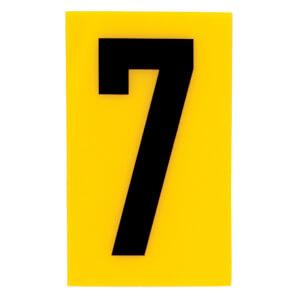 Breeze Yellow Self Adhesive House Number - 60mm - 7