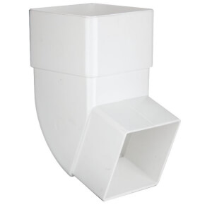 Polypipe Square Offset Bend - 65mm x 112.5 Degree - White