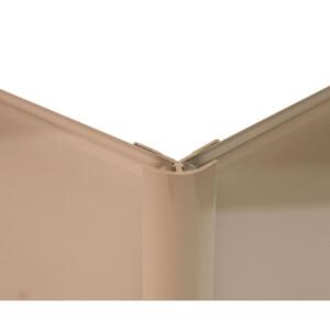 Zenolite Colour Matched PVC External Corner - Splashback Profile - 125cm - Mocha