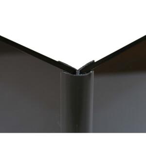 Zenolite Colour Matched PVC External Corner - Splashback Profile - 125cm - Black