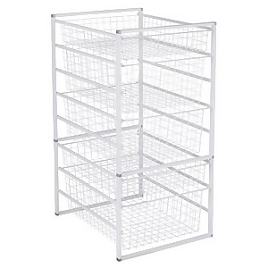 5 Wire Baskets Storage Tower