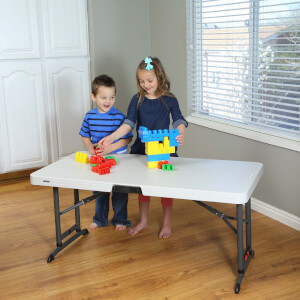 Lifetime Folding Adjustable Table - 4ft