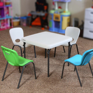 Lifetime Children's Stacking Chair - Almond (Pack of 4)