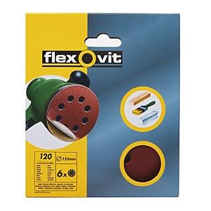 Flexovit PTA 125mm Eccentric Discs - 120 Grit