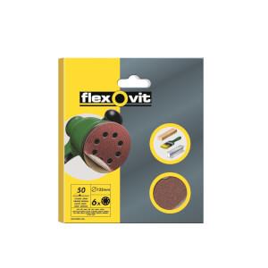 Flexovit PTA 125mm Eccentric Discs - 50 Grit