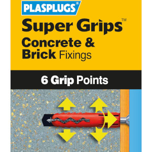 Plasplugs Red Solid Wall Fixings Clip Pack x 100