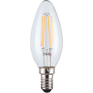 TCP LED Filament Clear Candle 4.5W E14 Dimmable Light Bulb