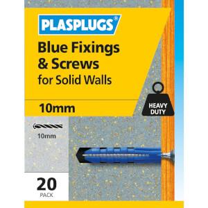 Plasplugs Blue Plugs & Screws