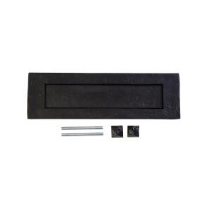Antique Black Iron Letter Plate - 254 x 74mm