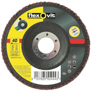 Flexovit Angle Grinder 40G Flap Disc - 115mm