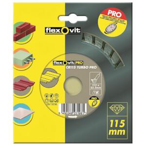 Flexovit PRO Continuous Rim Turbo Diamond Blade - 115mm