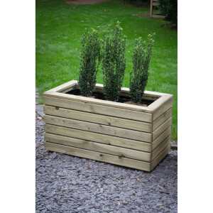 Forest Garden Wooden Linear Double Planter