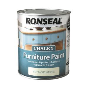 Ronseal Chalk Paint Vintage White - 750ml