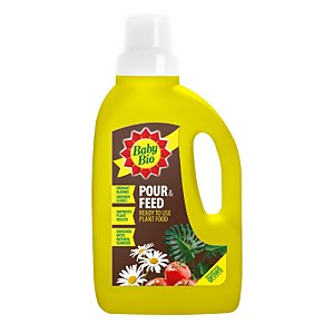 Baby Bio Pour and Feed Ready to Use Plant Food - 1L