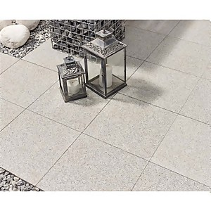 Stylish Stone Granite Paving 400 x 400mm - Light Grey (Full Pack)