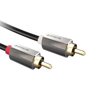 Antsig Dual RCA Phono to Dual RCA Phono Audio Cable 1.8m