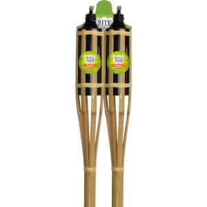 Bamboo 150cm Garden Torch (Pack of 2)