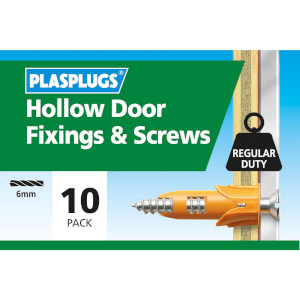 Plasplugs Hollow Door & Screws