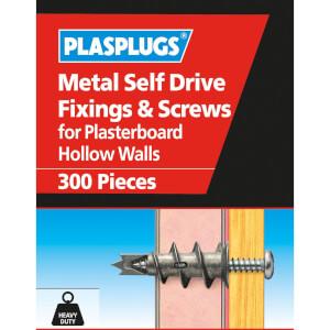 Plasplugs Metal Self Drive & Screws x 300