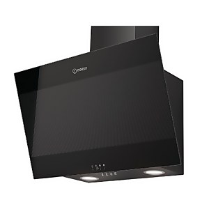 Indesit IHVP 6.6 LM K Angled Chimney Cooker Hood - 60cm - Black